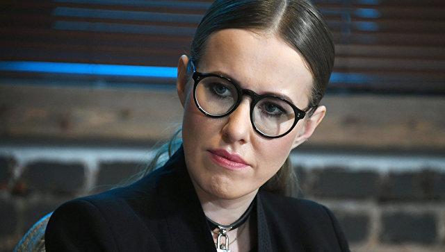 Собчак судорожно прокомментировала внесение ееданных вбазу украинского «Миротворца»