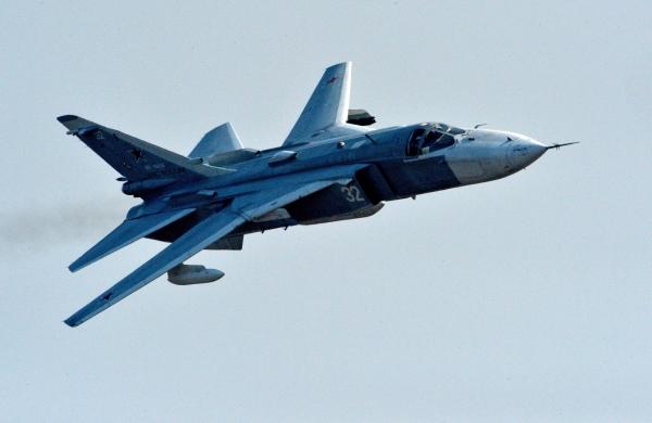 Террористы вСирии подбили Су-24— кадры падения