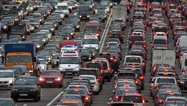 Пробки в российской столице достигнут 10 баллов из-за работ поблагоустройству вцентре