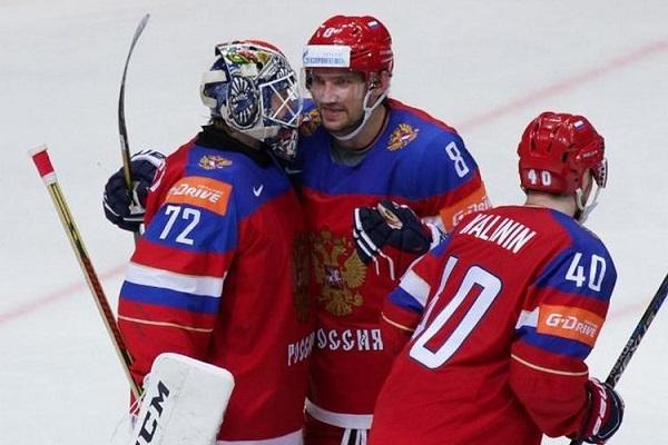 Сборная Российской Федерации  похоккею втретьем матче группового этапаЧМ разгромила республику Беларусь