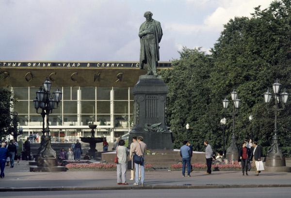 Реконструкции монумента Пушкину плановая инесвязана сполитикой