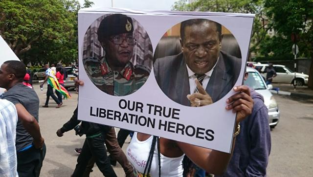 Кортеж президента Зимбабве покинул резиденцию вХараре без Мугабе