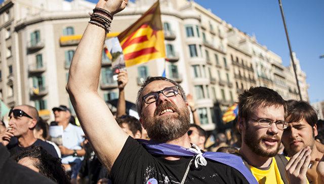 Пострадали неменее 90 протестующих против ареста Пучдемона граждан Каталонии