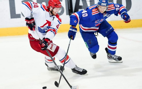 ВПетербурге хоккеистов СКА иКубок Гагарина встретили сотни болельщиков