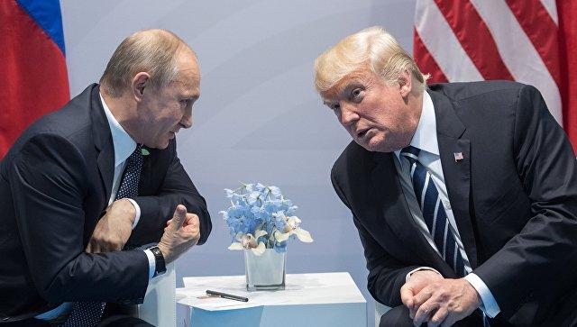 Песков: Путин иТрамп могут обсудить ситуацию вСирии