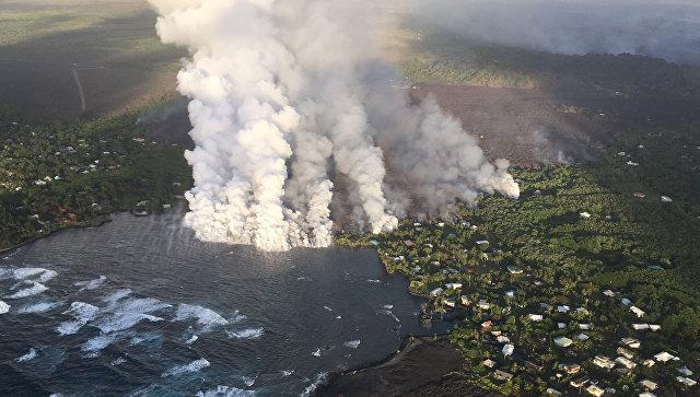Более 20 туристов пострадали на Гавайях из-за выброса лавы из вулкана