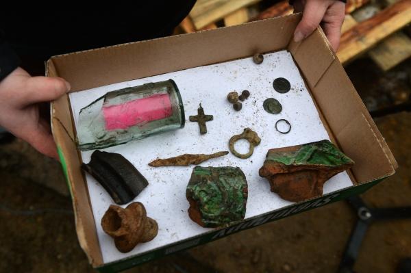 Вцентре столицы отыскали 10 000 артефактов задва года