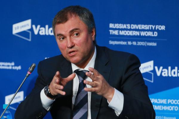 Володин назвал логичным решение В.Путина осамовыдвижении навыборы